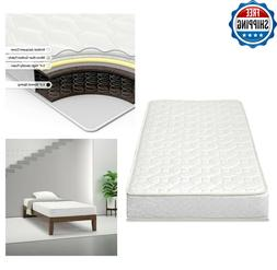 """Innerspring Mattress 6"""" Twin Size Bunk Bed Extra Firm Quilte"""
