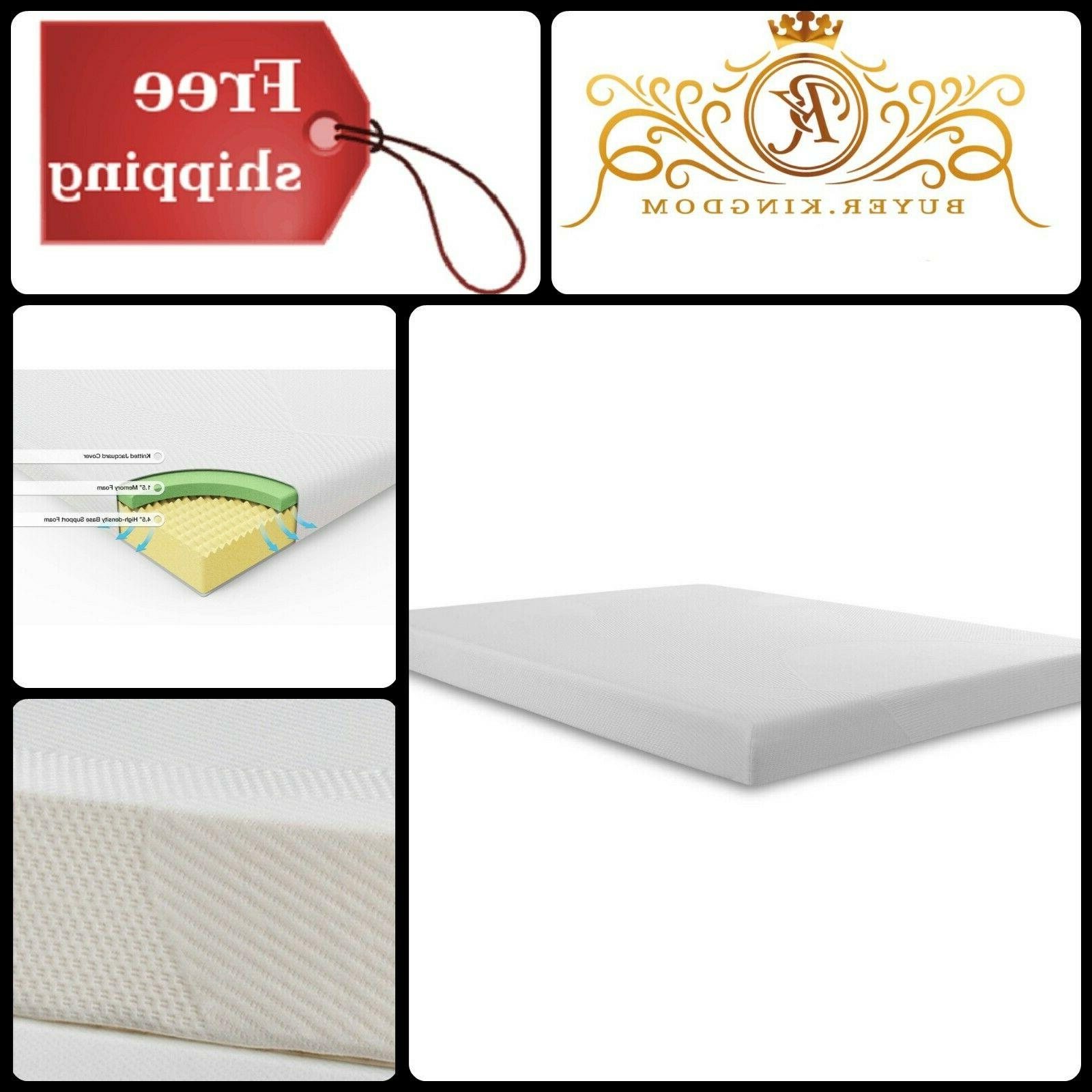 """High Density Memory Foam Mattress Tight Top 6"""" Thick Relieve"""