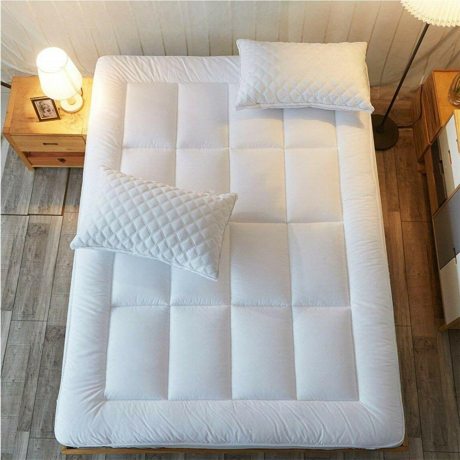 Mattress Pad Cover Memory Foam Topper Pillow Cooling Top Thi