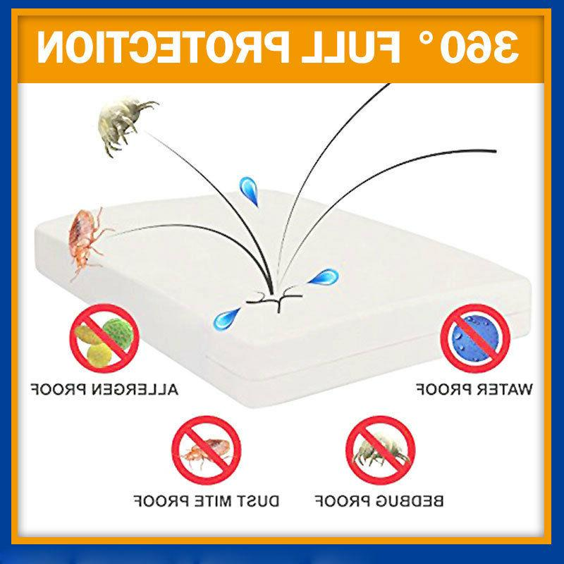 SOFT FABRIC LUXURY BedBugProof PROTECTOR MATTRESS COVER