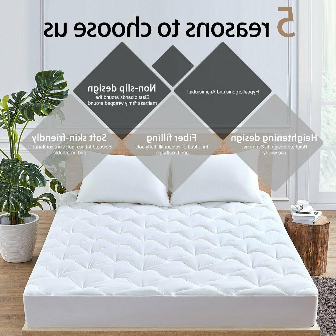 Full Cover Pillow Top Bed Breathable Hypoallergenic New