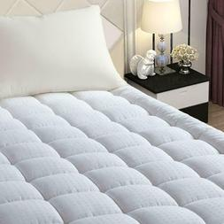 Pillow Top Mattress Cover Protector Bed Topper Pad Soft Hypo