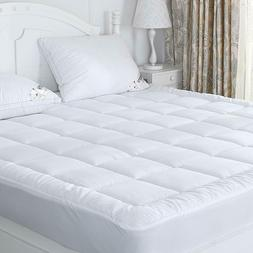 Queen Size Bed Pillow Top Mattress Pad Cover Protector Snow