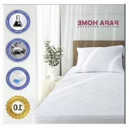 Top Waterproof Bed Cover Twin Size Fitted Sheet Plastic Matt